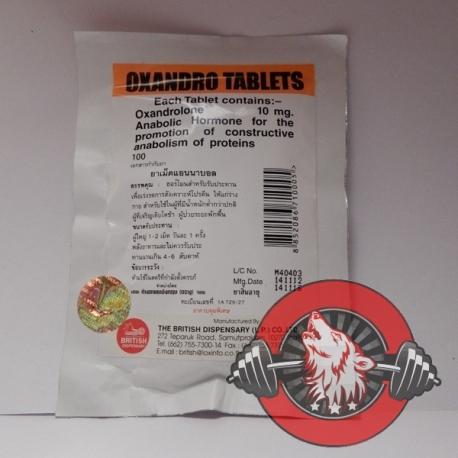 Oxandro Tablets British Dispensary (10 mg/tab) 100 tabs